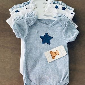 Rene Rofe Blue Bodysuit Star Stripes Baby 3–6 mos